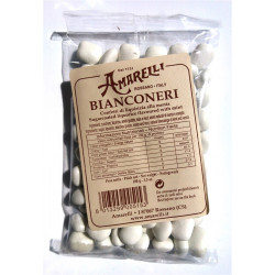 Amarelli - Bianconeri -Mint liquorice covered by a white...