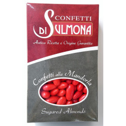 Sugared almonds from Sulmona - Classic with Almond, Red -...