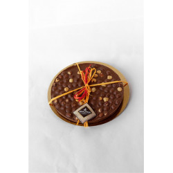La Zolla - Milk Chocolate Disk with Italian Hazelnuts -...