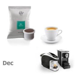 100 Capsules Coffee - Dek - Comp. Uno System - Lollo Coffee