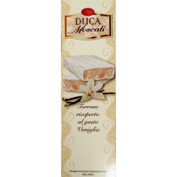 Nougat with Vanilla Flavor Covered with White Chocolate -...