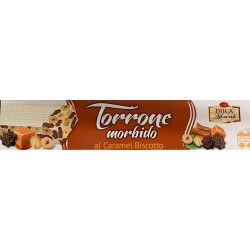 Soft White Nougat with Caramel Biscuit - 150g - Duca Moscati
