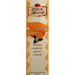 White Nougat Covered with Orange Flavor - 100g - Duca...