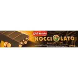 Milk Chocolate Nougat whit Hazelnuts - 300g - Dolciando