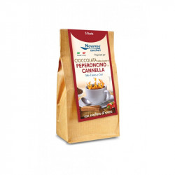 Hot Chocolate - Pepper and Cinnamon Flavor - 5x25g - 125g...