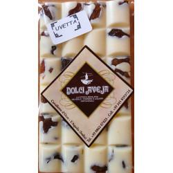 White Chocolate Bar with Raisins - 90 gr - Dolci Aveja