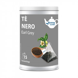Tè Nero Earl Grey, Jar with 15 Pyramidal Filters of 2,25g...