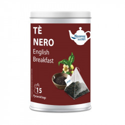 Tè Nero English Breakfast, Jar with 15 Pyramidal Filters...