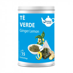Tè Verde Ginger Lemon, Jar with 15 Pyramidal Filters of...