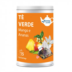 Tè Verde Mango e Ananas, Jar with 15 Pyramidal Filters of...