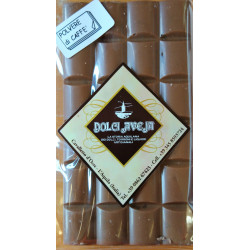 Milk Chocolate Bar Enriched with Ground Coffee - 90 gr -...