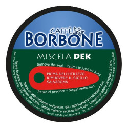 90 Kapseln Dek Blend - Comp. Dolce Gusto - Caffè Borbone