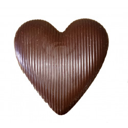 Cuore Cioccolato al Latte con Farro Soffiato - 200 gr -...