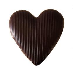 Cuore Cioccolato Fondente con Farro Soffiato - 200 gr -...