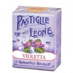 Caramelle Pastiglie alla Violetta - Scatolina 30 g - Leone
