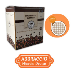 150 Cialde ESE 44mm - Abbraccio, Miscela Decisa - 99 Caffè