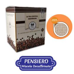 150 Cialde ESE 44mm - Pensiero, Miscela Dek - 99 Caffè