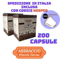 200 Capsule compatibili Nespresso - Abbraccio, Miscela...