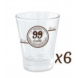 Bicchierini di Vetro - set 6pz - 99 Caffè