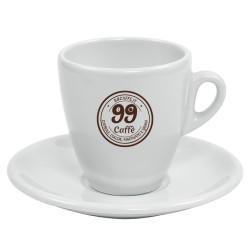 Tazzine da Cappuccino con piattini - 1pz - 99 Caffè