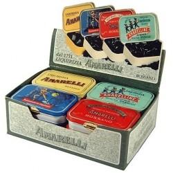 Liquorice Amarelli 12 Mixed 40g Packs Spezzata, Spezzatina, Rombetti, Favette