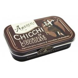 Liquorice Amarelli 40g Tin from Brown Collection - Chocolate & Liquorice