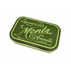 Liquorice Amarelli 40 g Tin from Green collection - Favette Mint