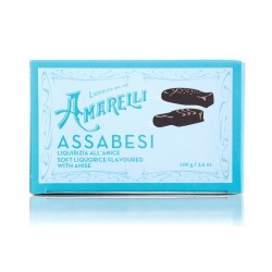 Amarelli -Assabesi Anis liquorice presented in different and funny shapes 100 gr