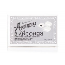 Amarelli - Bianconeri -Mint liquorice covered by a white layer of sugar - 100 gr
