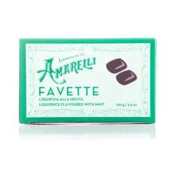 Amarelli - Favette -Liquorice broken in small pieces flavored with mint - 100 gr
