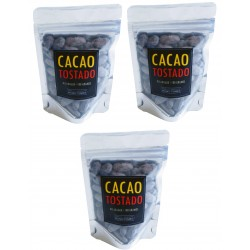 Momotombo - Roasted Cocoa Beans in the Shell  - 100% Nicaraguan Cacao - 3x100gr