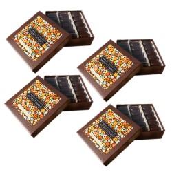 Momotombo-4 Dark Chocolates boxs-Cashews,Cinnamon-70% Nicaraguan Cacao-4x90gr