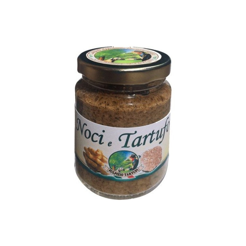 Sulpizio Tartufi - Walnut and Truffles Cream - 90gr - Original Italian product